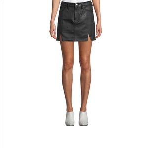 Current/Elliott The Leather Mini Five Pocket Skirt